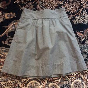 Gray j crew a line skirt
